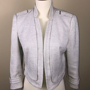 White House Black Market Beige Tweed Crop Jacket